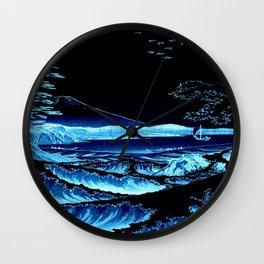The Sea at Satta : Blue Wall Clock
