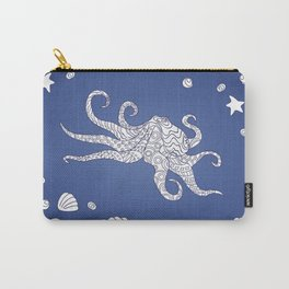 octopus on the blue Carry-All Pouch