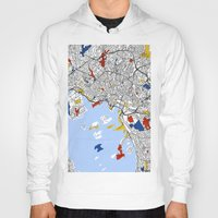 oslo Hoodies featuring Oslo mondrian by Mondrian Maps