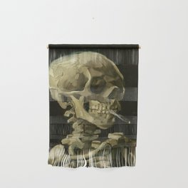 Vincent van Gogh - Skull of a Skeleton with Burning Cigarette Wall Hanging
