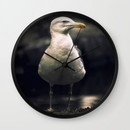 Seagull. The boss of the pond. Wall Clock