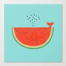 Don't let the seed stop you from enjoying the watermelon Canvas Print