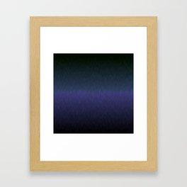 Black navy purple ombre flames Framed Art Print