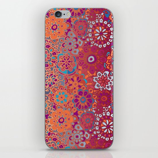 Psychedelic Ombre Flower Doodle iPhone & iPod Skin