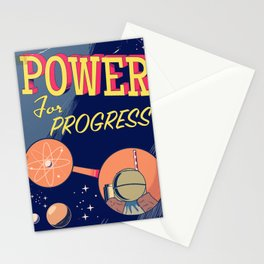 Power For Progress 1955 atomic power print. Stationery Cards