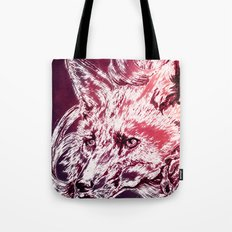 Fox with flowers Tote Bag