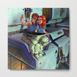 Sveta and Bella take a Selfie Metal Print