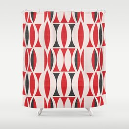 Seventies in Cherry Red (little) Shower Curtain