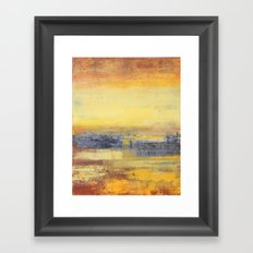 Yellow and Grey Framed Art Print