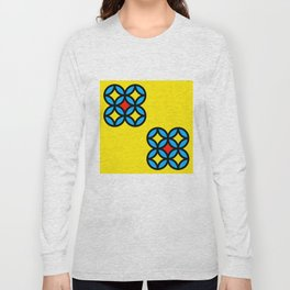 Colored Circles on Yellow Board Long Sleeve T-shirt