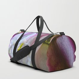 Raindrops on a blueberry flower Duffle Bag