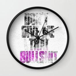 Lies Juice Wall Clock