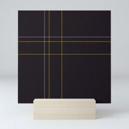 Dark Tartan Plaid Mini Art Print