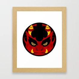 Oni Circle Framed Art Print