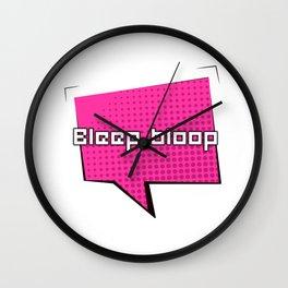 Bleep Bloop Robot Speech Bubble Design Wall Clock