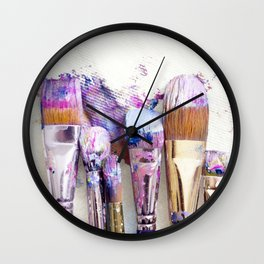 Six Dirty Paintbrushes (Photo) Wall Clock