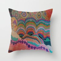 trippy Throw Pillows featuring Trippy by sheuh