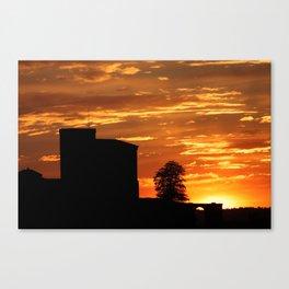 Castle Sunset  - JUSTART © Canvas Print