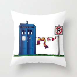 Doctor Who: tardis wardrobe  Throw Pillow