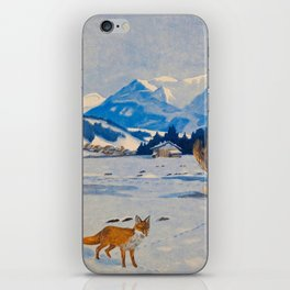 Jugend-Munich illustrated weekly for art and life - 1906 Cold Climate Snow Mountains Fox iPhone Skin