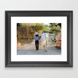 The Cowgirl's Prayer Framed Art Print