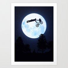Riding the Kuwahara BMX. Like A Boss! Art Print