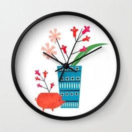Blue vase Wall Clock