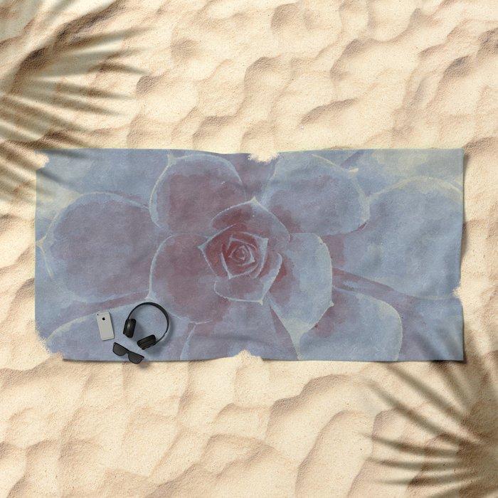 Geometric Succulent Beach Towel