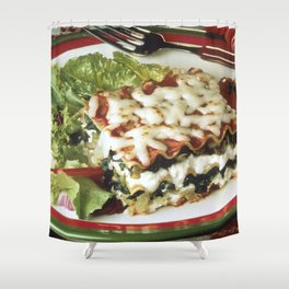 Lasagna Dinner Shower Curtain