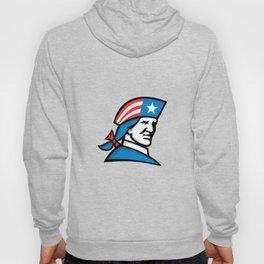 American Patriot Head USA Flag Mascot Hoody