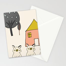 Tree Little Pigs Stationery Cards