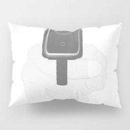 Hand Gun Halftone Pillow Sham
