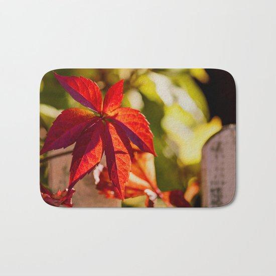 Red Autumnlights- Indian Summer VI Bath Mat