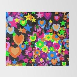 Groovy Love! Throw Blanket