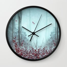 everything and more - winter forest Wall Clock