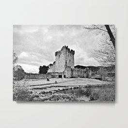 Ireland: Castle B&W Metal Print