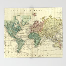 Old world map throw blankets society6 vintage map of the world 1823 throw blanket gumiabroncs Gallery
