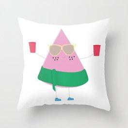 Melon Baller Throw Pillow