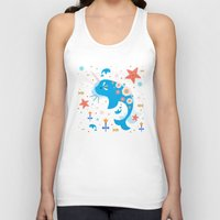 narwhal Tank Tops featuring Narwhal & Babies  by Carly Watts
