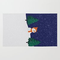 snowman Area & Throw Rugs featuring Snowman ... by Mr & Mrs Quirynen
