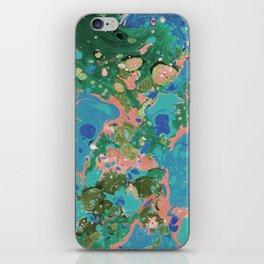 Painting lagoon iPhone Skin