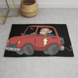 Electric car Rug