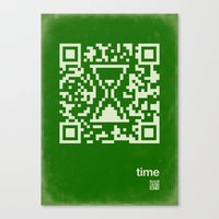 QR time Canvas Print