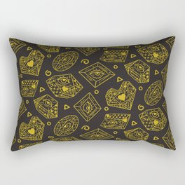 The Alchemist - Yellow Charcoal Rectangular Pillow