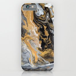 Gold Vein Marble iPhone Case