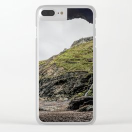 Merlins cove tintagel Clear iPhone Case