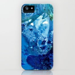 Environmental Blue Leaves, Tiny World Collection iPhone Case
