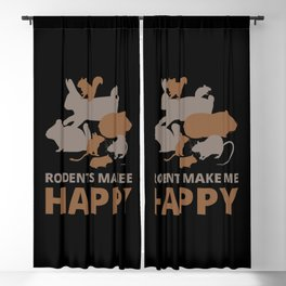Rodents make me happy Blackout Curtain
