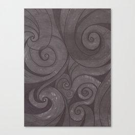 Black on black Canvas Print
