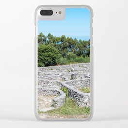 Ruins of ancient Celtic village in Santa Tecla - Galicia, Spain Clear iPhone Case